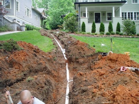 Sewer line repair in Newbury Park done for less by local plumbers.